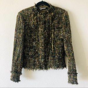 Multicolor tweed jacket